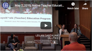 natvie teacher education