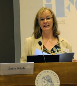 Beate Scholz in one of her talks about doctoral education